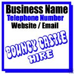 BOUNCY CASTLE HIRE BUSINESS MAGNETIC CAR / VAN SIGN